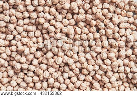 Natural and raw chickpeas. Fresh legumes close up