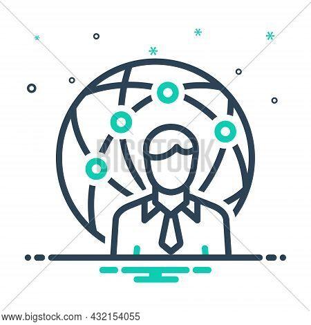 Mix Icon For Representative Delegate Attorney Proxy Agent Negotiator