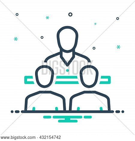 Mix Icon For Consultant Counsellor Adviser Guide Expert Opinion Consulting Conversation Meeting Peop