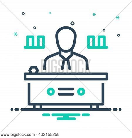 Mix Icon For Director Manager Warden Administrator Chief Executive Head Producer Supervisor
