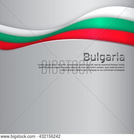Abstract Waving Bulgaria Flag. Paper Cut. Creative Metal Background For Design Of Patriotic Holiday