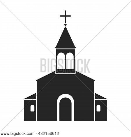 Church Vector Icon.black Vector Icon Isolated On White Background Church.