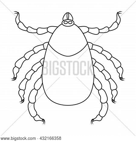 Parasites Mite Vector Icon.outline Vector Icon Isolated On White Background Mite Parasites.