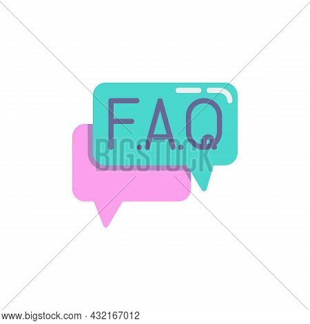 Faq, Question And Answer Flat Icon, Vector Sign, Frequently Information Question Colorful Pictogram