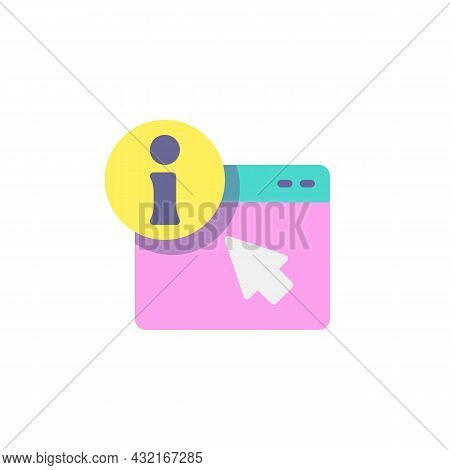 Webpage, Info Flat Icon, Vector Sign, Frequently Asked Questions Site Colorful Pictogram Isolated On