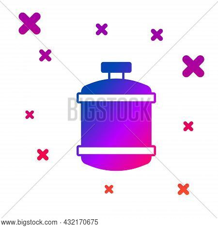 Color Propane Gas Tank Icon Isolated On White Background. Flammable Gas Tank Icon. Gradient Random D