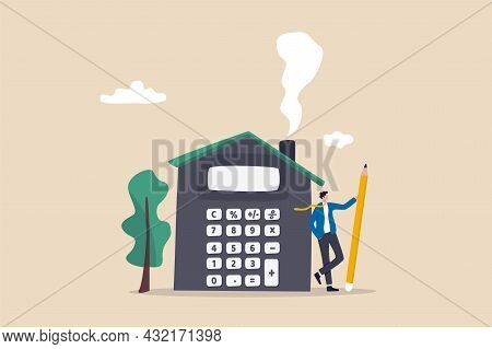 House Mortgage Calculation, Residential Budget, Insurance Or Cost And Expense, Real Estate Investmen