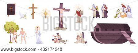 Christianity History Symbols Bible Cross Crucifixion Saint Sin Noah Arc Jesus Birth Moses Commandmen