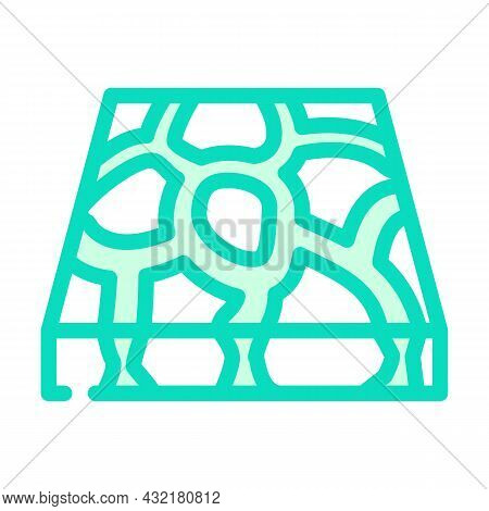 Stone Floor Color Icon Vector. Stone Floor Sign. Isolated Symbol Illustration