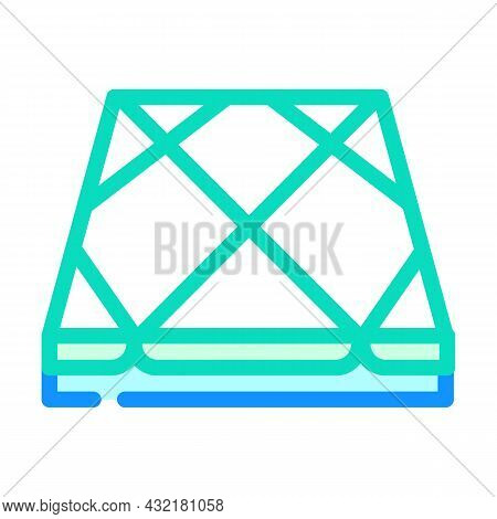 Tile Layer Floor Color Icon Vector. Tile Layer Floor Sign. Isolated Symbol Illustration