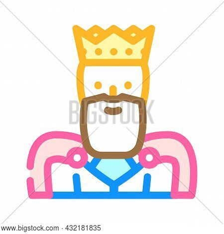 King Man Color Icon Vector. King Man Sign. Isolated Symbol Illustration