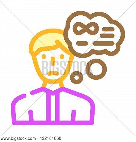 Middle Ages Crisis Man Color Icon Vector. Middle Ages Crisis Man Sign. Isolated Symbol Illustration