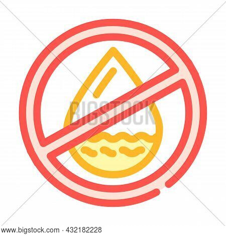 Fat Free Color Icon Vector. Fat Free Sign. Isolated Symbol Illustration