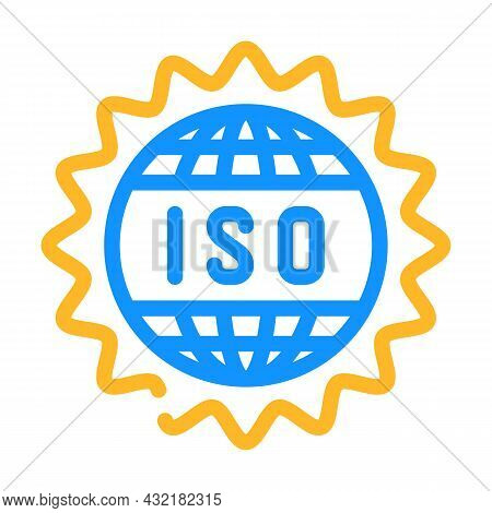Iso Standard Color Icon Vector. Iso Standard Sign. Isolated Symbol Illustration