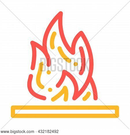 Flammable Container Color Icon Vector. Flammable Container Sign. Isolated Symbol Illustration