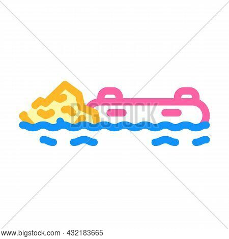 Rafting Water Sport Color Icon Vector. Rafting Water Sport Sign. Isolated Symbol Illustration