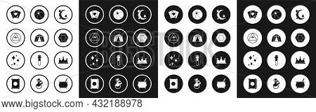 Set Moon And Stars, Circus Tent, Masons, Playing Cards, Magic Stone, Beach Ball, Crown And Sparkle W