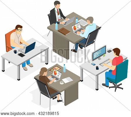 Project Planning, Deadline And Time Management Concept. Business Team Makes Office Timetable Of Meet