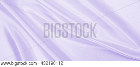 Smooth Elegant Lilac Silk Or Satin Texture Can Use As Wedding Background. Luxurious Background Desig