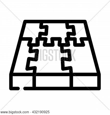 Rubber Cover Floor Line Icon Vector. Rubber Cover Floor Sign. Isolated Contour Symbol Black Illustra