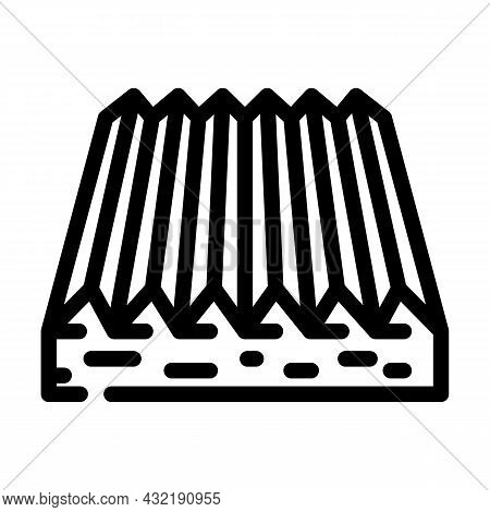 Tactile Flooring Line Icon Vector. Tactile Flooring Sign. Isolated Contour Symbol Black Illustration