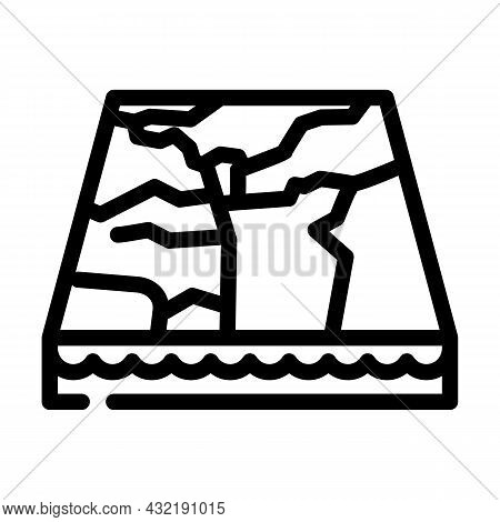 Marble Material Floor Layer Line Icon Vector. Marble Material Floor Layer Sign. Isolated Contour Sym