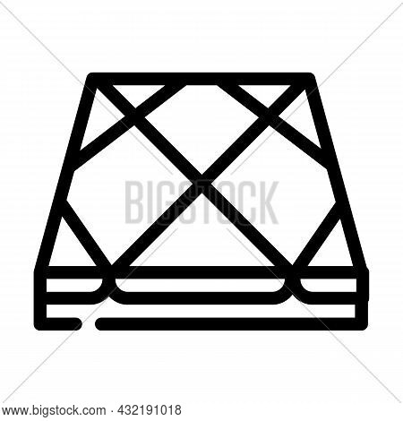 Tile Layer Floor Line Icon Vector. Tile Layer Floor Sign. Isolated Contour Symbol Black Illustration