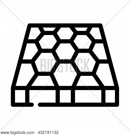 Sport Ground Floor Layer Line Icon Vector. Sport Ground Floor Layer Sign. Isolated Contour Symbol Bl