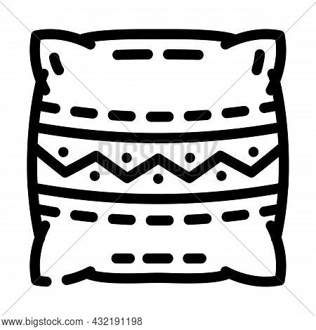 Pillows Making Line Icon Vector. Pillows Making Sign. Isolated Contour Symbol Black Illustration