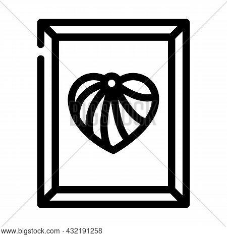 String Art Line Icon Vector. String Art Sign. Isolated Contour Symbol Black Illustration