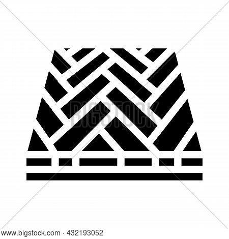 Parquet Floor Glyph Icon Vector. Parquet Floor Sign. Isolated Contour Symbol Black Illustration