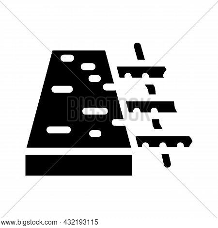Reinforced Concrete Floor Glyph Icon Vector. Reinforced Concrete Floor Sign. Isolated Contour Symbol