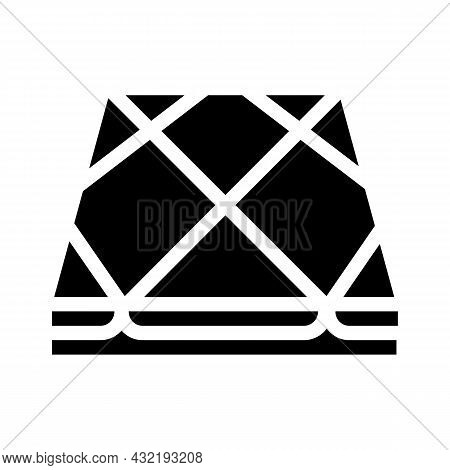 Tile Layer Floor Glyph Icon Vector. Tile Layer Floor Sign. Isolated Contour Symbol Black Illustratio