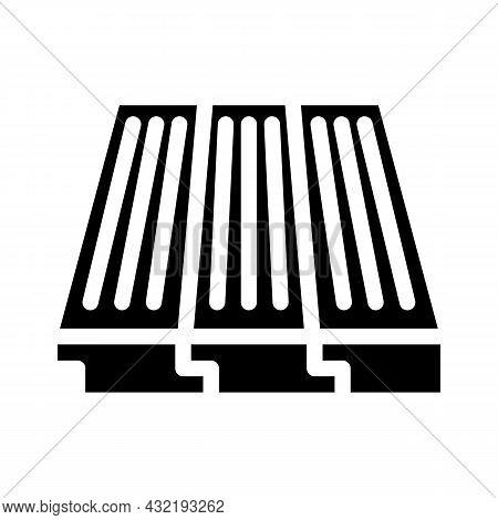 Wood Layer Floor Glyph Icon Vector. Wood Layer Floor Sign. Isolated Contour Symbol Black Illustratio