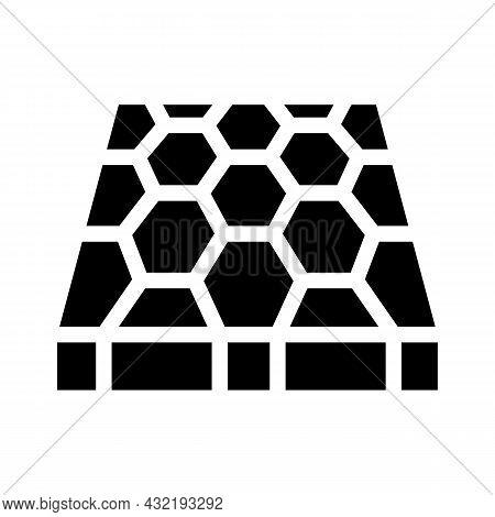 Sport Ground Floor Layer Glyph Icon Vector. Sport Ground Floor Layer Sign. Isolated Contour Symbol B