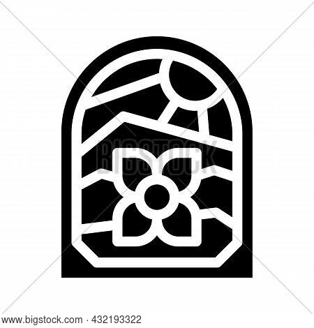 Stained Glass Glyph Icon Vector. Stained Glass Sign. Isolated Contour Symbol Black Illustration