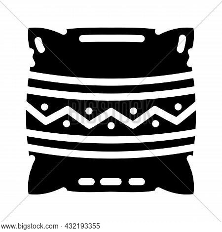 Pillows Making Glyph Icon Vector. Pillows Making Sign. Isolated Contour Symbol Black Illustration