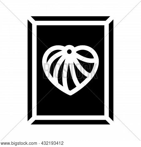 String Art Glyph Icon Vector. String Art Sign. Isolated Contour Symbol Black Illustration