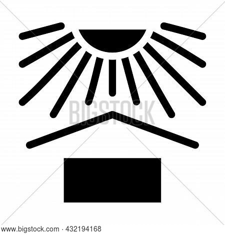 Heat Protect Glyph Icon Vector. Heat Protect Sign. Isolated Contour Symbol Black Illustration
