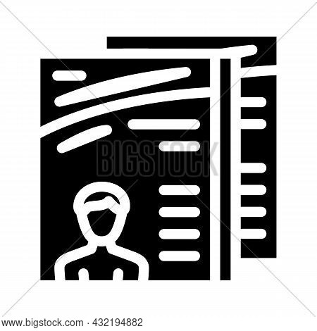 Magazine Selling Department Glyph Icon Vector. Magazine Selling Department Sign. Isolated Contour Sy