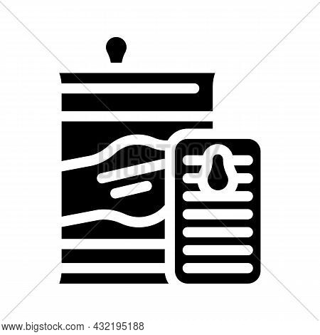 Preserves And Canned Food Department Glyph Icon Vector. Preserves And Canned Food Department Sign. I
