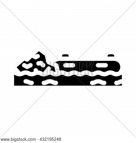 Rafting Water Sport Glyph Icon Vector. Rafting Water Sport Sign. Isolated Contour Symbol Black Illus