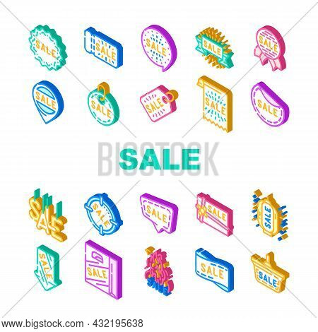 Summer Sale And Season Discount Icons Set Vector. Summer Sale Banner And Ribbon, Quote Frame And Pre