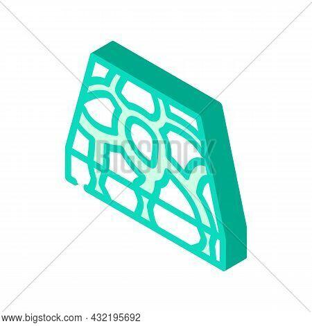 Stone Floor Isometric Icon Vector. Stone Floor Sign. Isolated Symbol Illustration