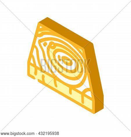 Wooden Floor Isometric Icon Vector. Wooden Floor Sign. Isolated Symbol Illustration