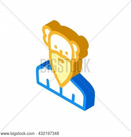 Old Age Man Isometric Icon Vector. Old Age Man Sign. Isolated Symbol Illustration
