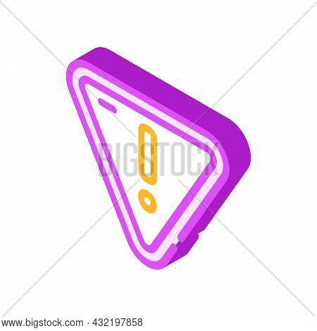 Hazardous Product Mark Isometric Icon Vector. Hazardous Product Mark Sign. Isolated Symbol Illustrat