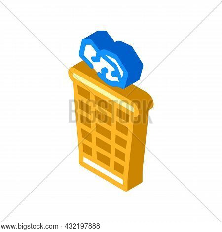 Throwing Rubbish Isometric Icon Vector. Throwing Rubbish Sign. Isolated Symbol Illustration