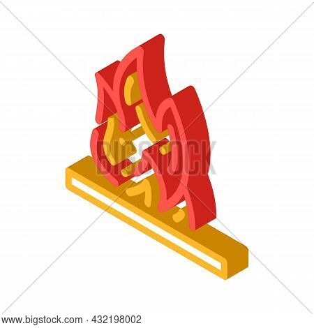 Flammable Container Isometric Icon Vector. Flammable Container Sign. Isolated Symbol Illustration