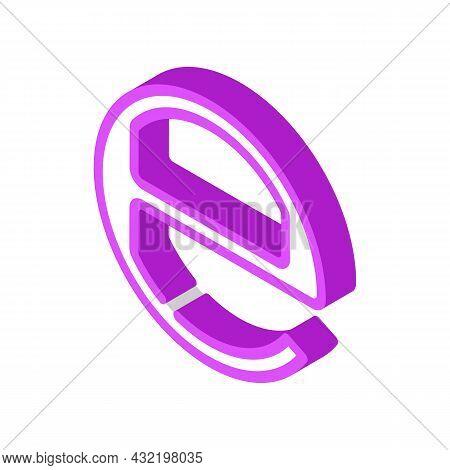 Estimated E Mark Isometric Icon Vector. Estimated E Mark Sign. Isolated Symbol Illustration